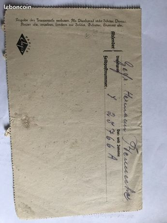 Reconnaitre les fausses lettres de soldat allemand Lo210