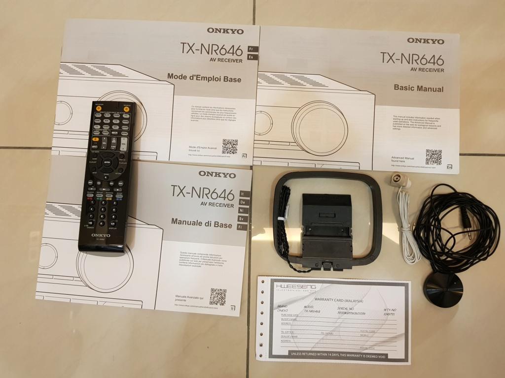 ONKYO 7.2 AV RECEIVER TX-NR646 (used) 20200213