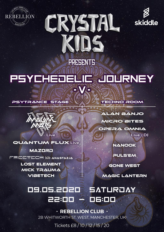 CANCELLED - Crystal Kids: Psychedelic Journey V, 9.5.20 Poster10