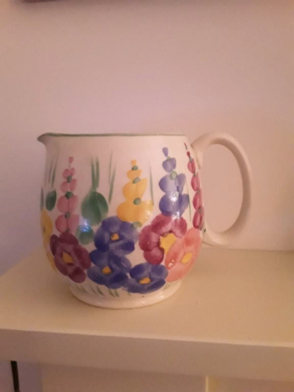 Hand Painted Flower Jug LBB ? 20200418