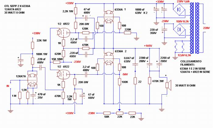 Valvole per amplificatore OTL Otl_se10