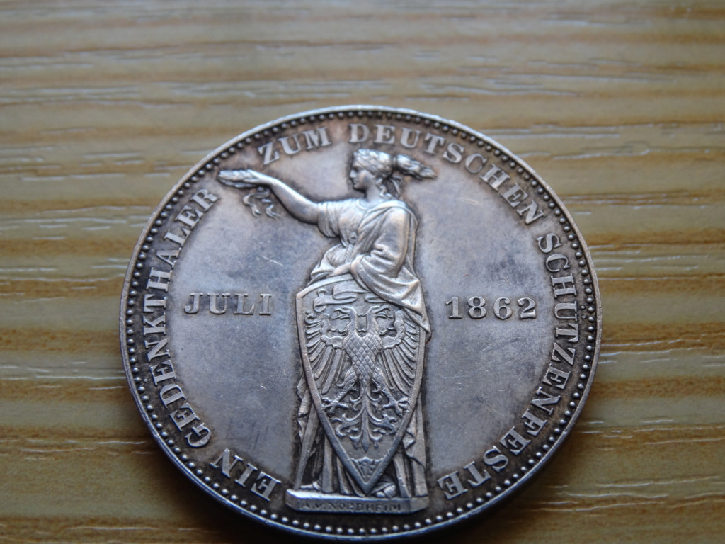 "1 thaler frankfurt 1862 ""Festival de tiro"" 1_110"