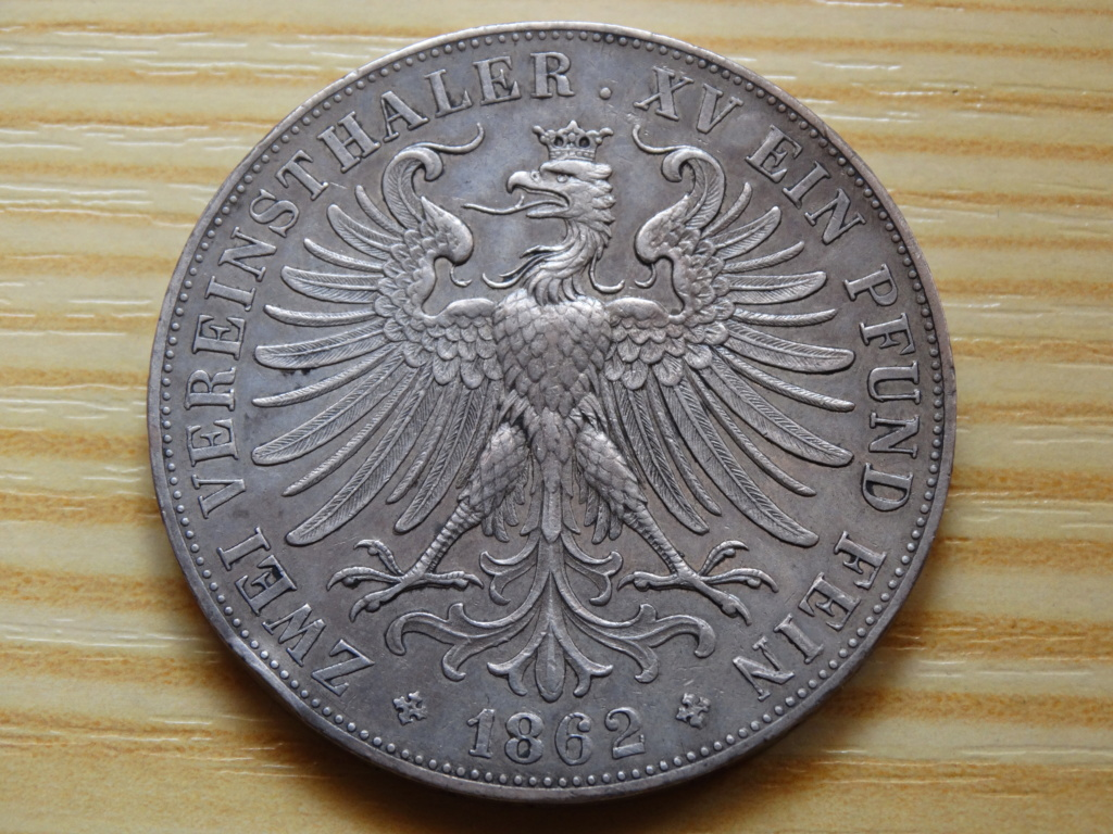 2 thaler frankfurt 1862 212