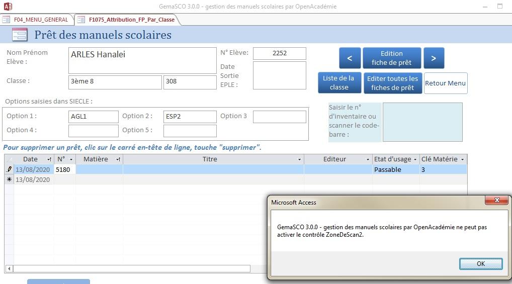 GemaSCO (GEstion MAnuels SCOlaires) version 3.0.1 spéciale Covid le 30 mai 2020 - Page 3 Bug_sc10