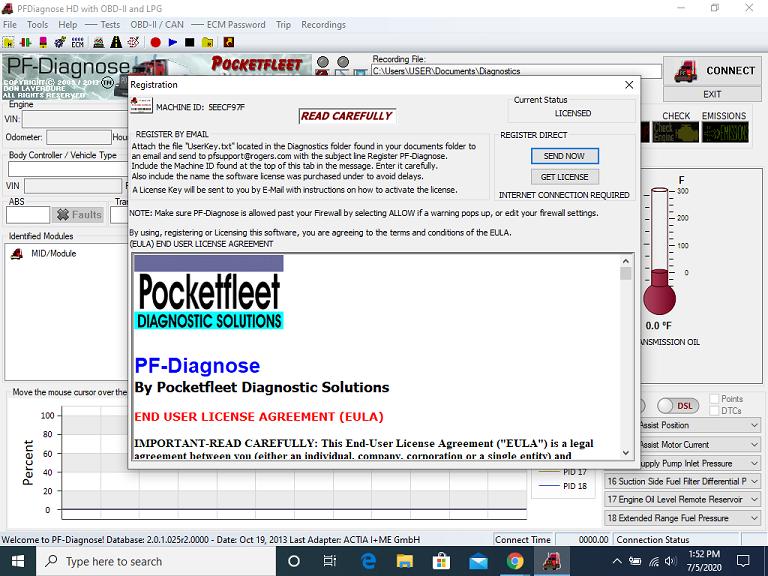 Pocket Fleet PFDiagnose 2.0.1.23 Pf210