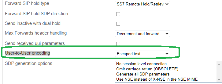 What logging I need to enable to see the User-to-User data on the ProSBC server. 510