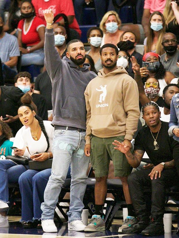 ¿Cuánto mide Michael B Jordan? - Real height Drake-10