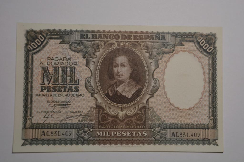 1000 pesetas 1940 Murillo 1000_d11