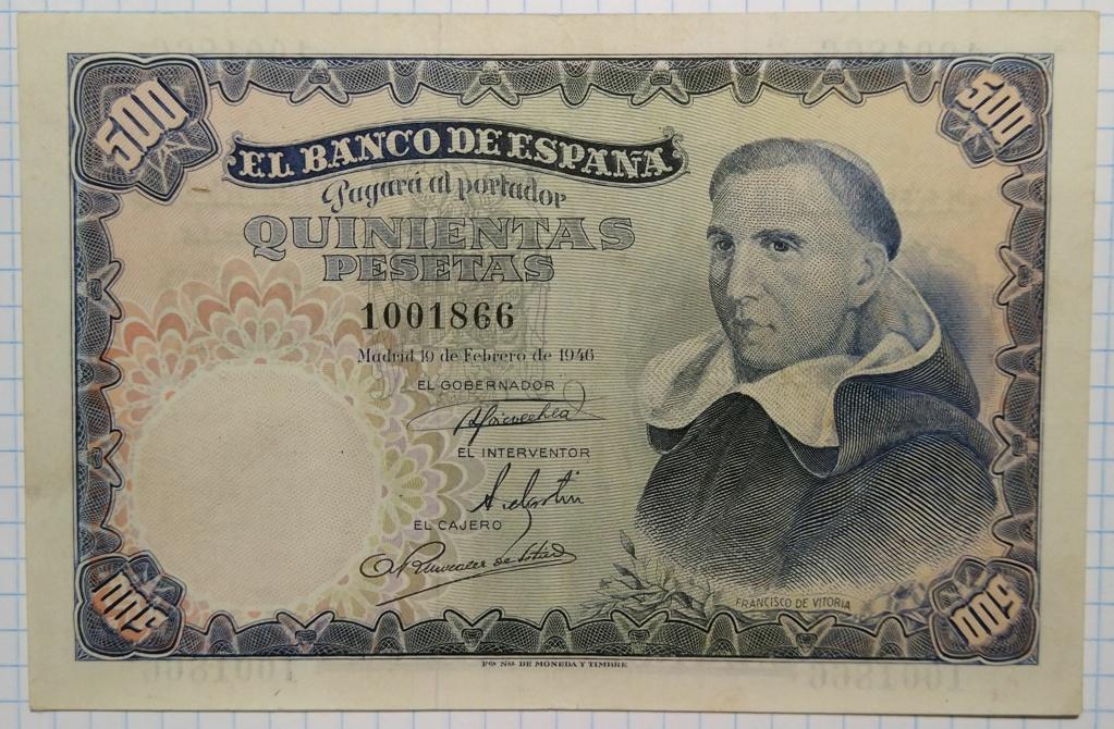 500 pesetas de 1946 (Padre Vitoria) 500_de11