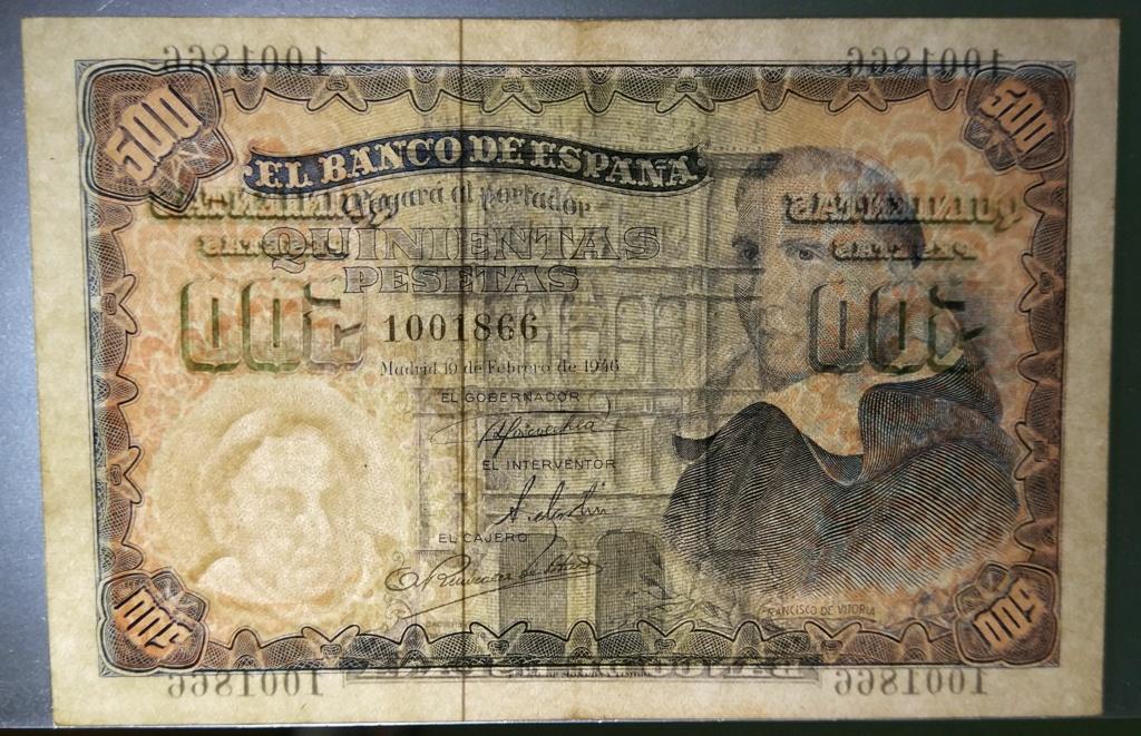 500 pesetas de 1946 (Padre Vitoria) 500_de12