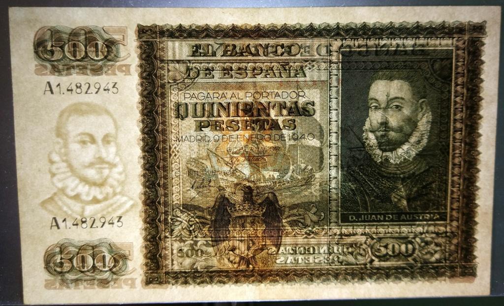 500 pesetas 1940 Juan de Austria 500_de19