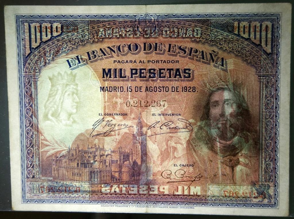 1000 pesetas de agosto de 1928 (Fernando III el Santo) M_100015