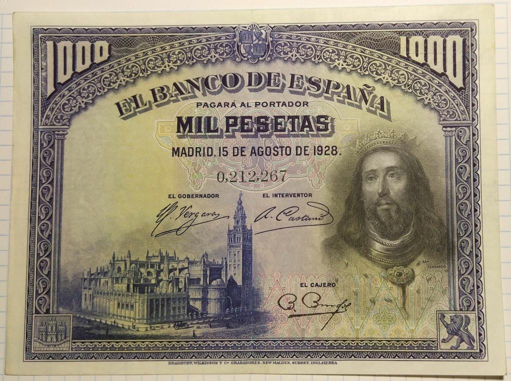 1000 pesetas de agosto de 1928 (Fernando III el Santo) M_100016