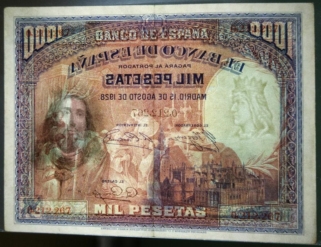 1000 pesetas de agosto de 1928 (Fernando III el Santo) M_100017