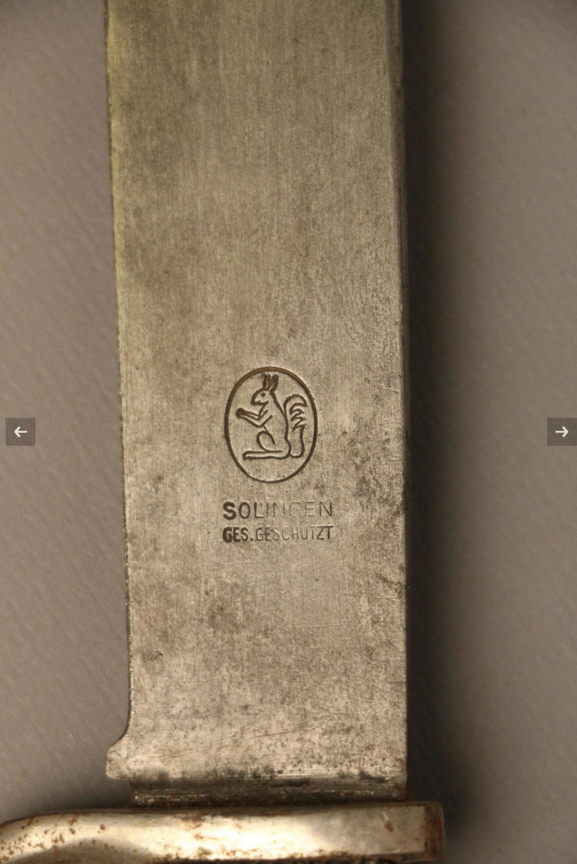 Authentification dague HJ B6402b10