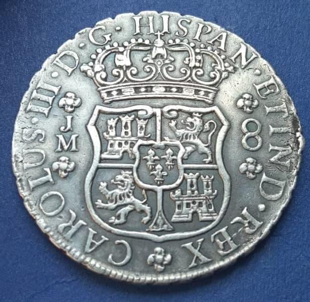 Mi primera moneda, 8 Reales Columnario de Lima Cruz10