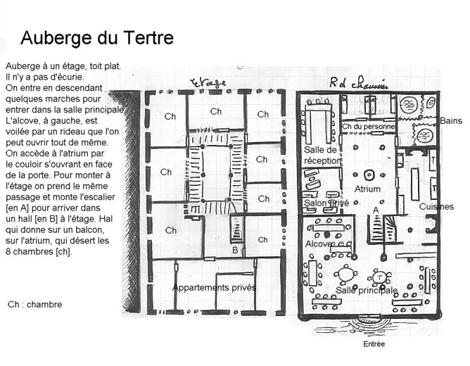 L'Auberge du Tertre, présentation et description. Plan_a10