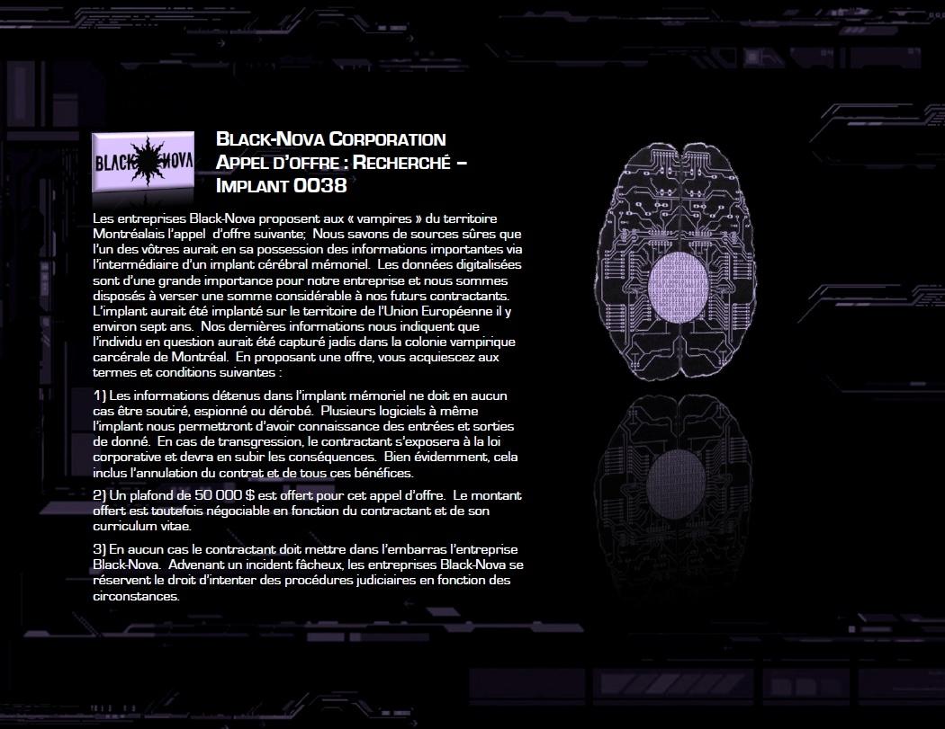 APPEL D'OFFRE: Black-Nova Contra13