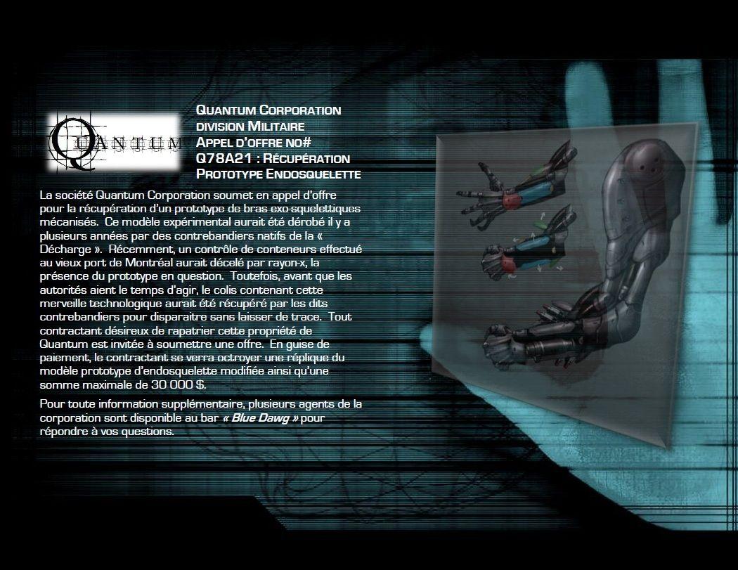 APPEL D'OFFRE: Quantum Contra16