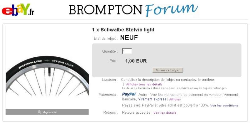 Vente au enchères : 1 pneu Schwalbe Stelvio Light Image110