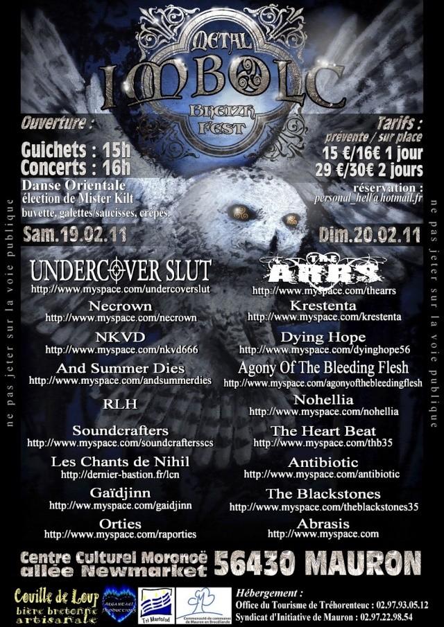 Imbolc Metal Breizh Fest IV, 19/20.02.2011, Mauron (56). Affich12