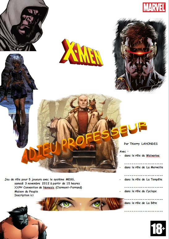 Adieu Professeur (3 & 4 novembre 2012) Affich10