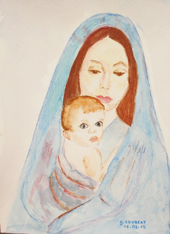 Vierge bleue (aquarelle) Vierge12
