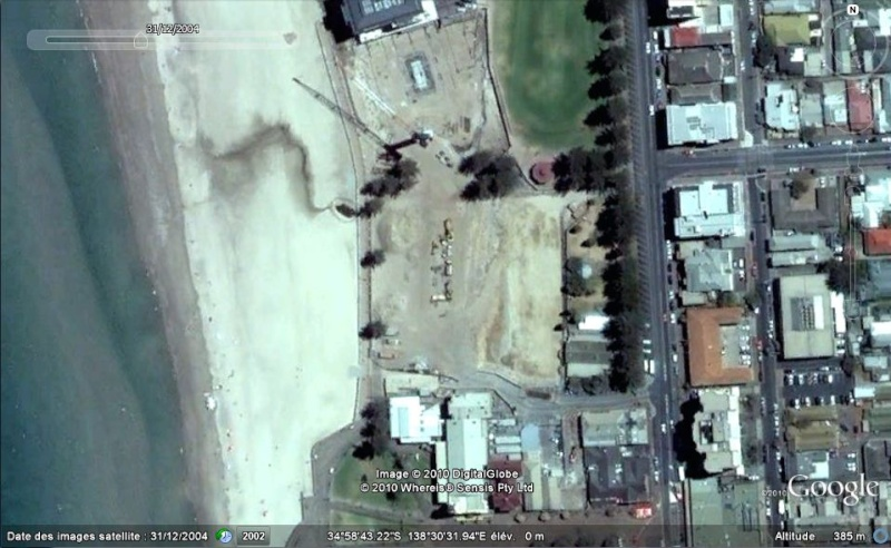 Bâtiments et constructions détruits repérés sur Google Earth 200410