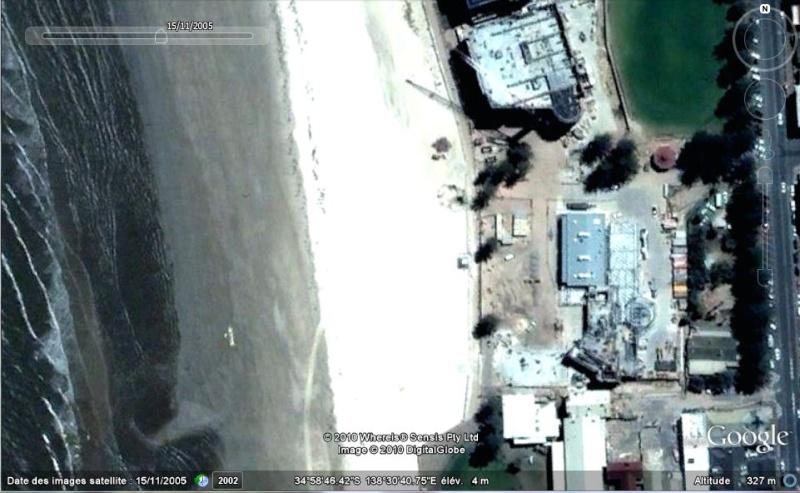 Bâtiments et constructions détruits repérés sur Google Earth Austra14