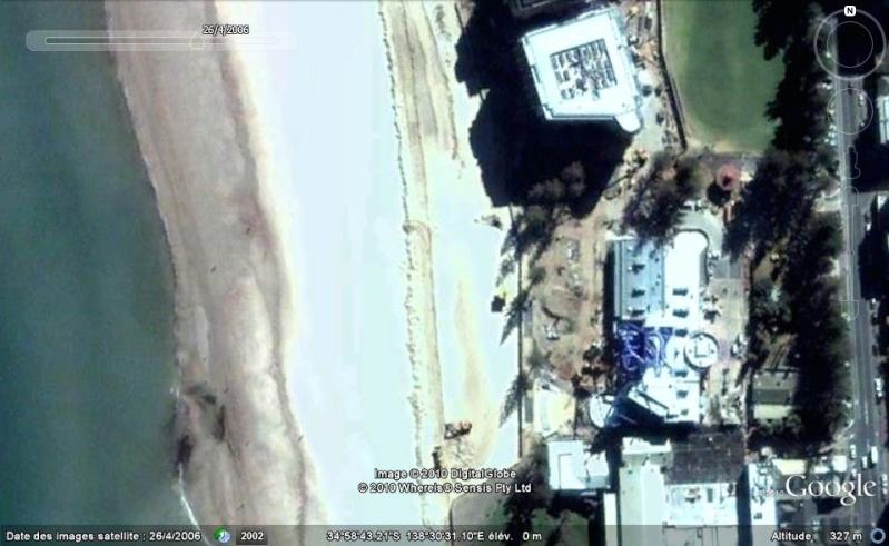 Bâtiments et constructions détruits repérés sur Google Earth Austra15