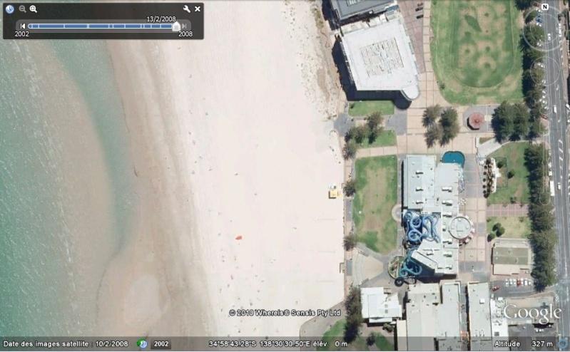 Bâtiments et constructions détruits repérés sur Google Earth Austra16