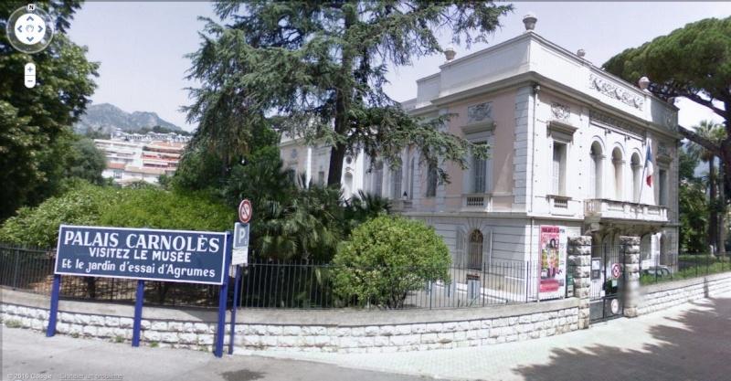STREET VIEW : Palais de Carnolès, Menton (Alpes-Maritimes) Palais10