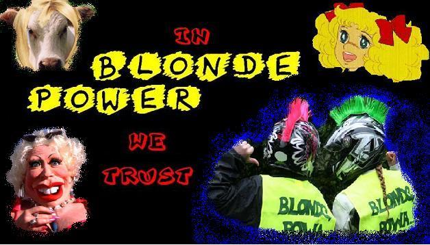in blonde power we trust