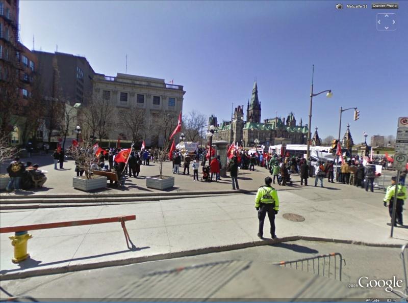 """STREET VIEW: les manifestations dans le Monde vues de la caméra des """"Google Cars"""" Greve10"""