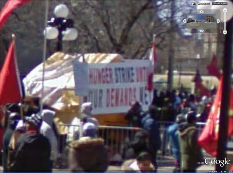 """STREET VIEW: les manifestations dans le Monde vues de la caméra des """"Google Cars"""" Zoom11"""
