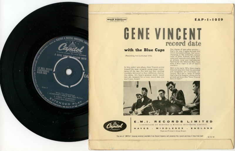 Echange EP UK GENE VINCENT Couleu11