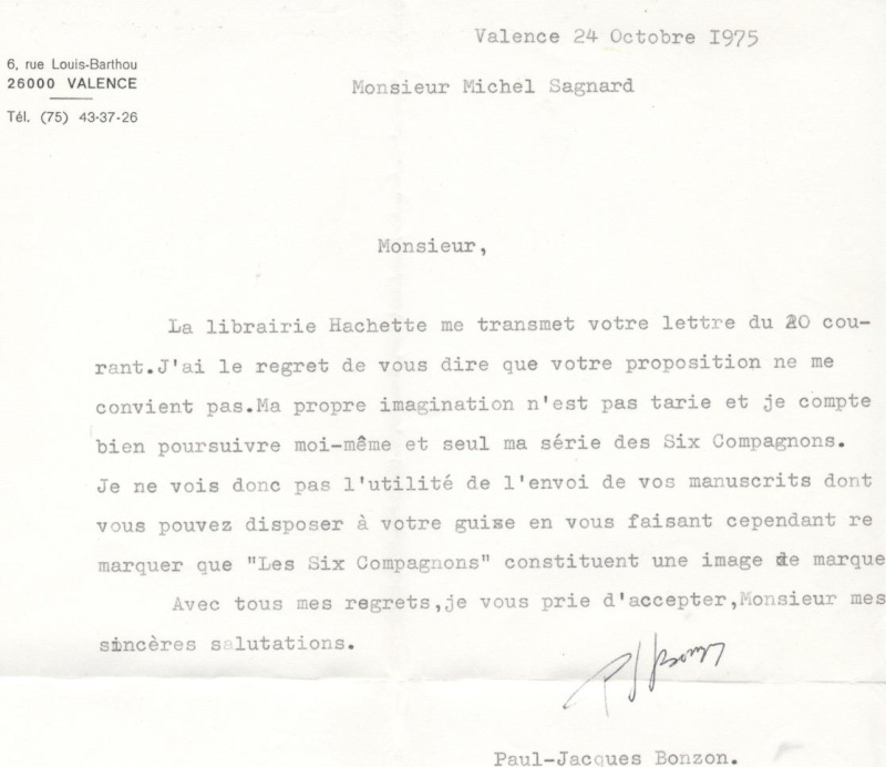 UNE LETTRE DE PAUL-JACQUES BONZON - Page 2 Pjbonz10