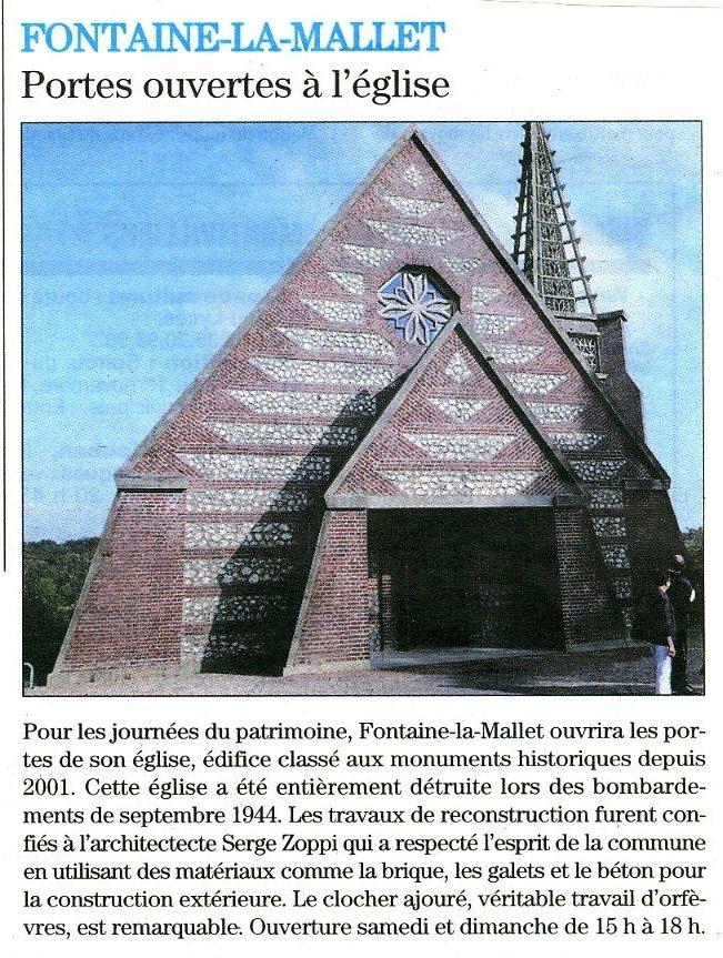 Fontaine-la-Mallet - Portes ouvertes à l'église Fontai10
