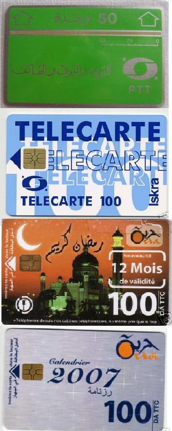 Recensement des Cartes téléphoniques d'Algérie Ptt10