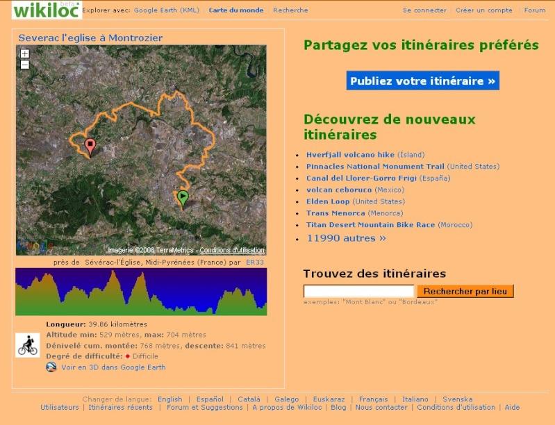 WikiLoc : des itinéraires vers Google earth. Captur18