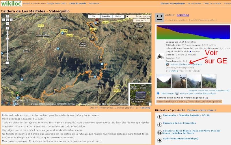 WikiLoc : des itinéraires vers Google earth. Captur20