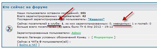 """Изменение текста переменных в блоке """"Кто сейчас на форуме""""  Qeel310"""
