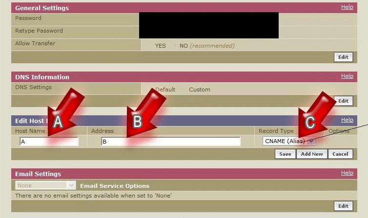 Как организовать переадресацию с доменного имени, купленного не на Forum2x2 Redire12