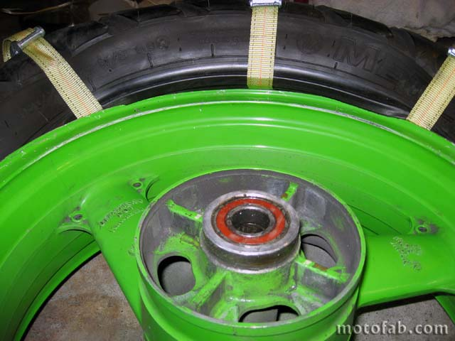 Mount a Motorcycle Tire Without Using Tools 1010
