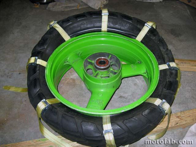 Mount a Motorcycle Tire Without Using Tools 1110