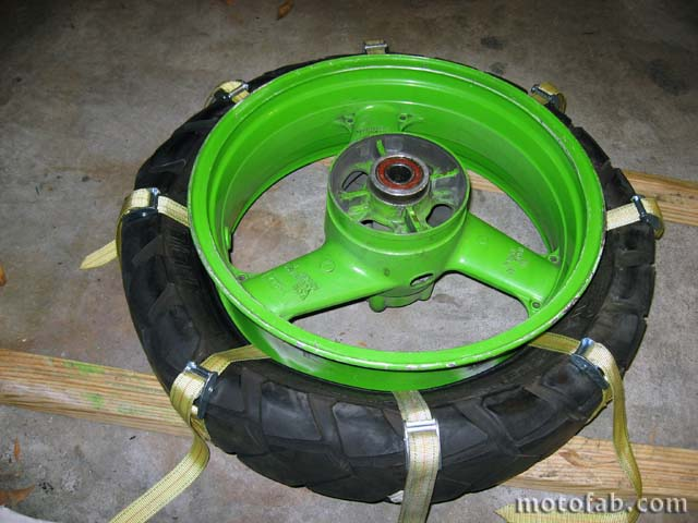 Mount a Motorcycle Tire Without Using Tools 1210