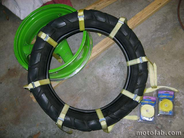 Mount a Motorcycle Tire Without Using Tools 210