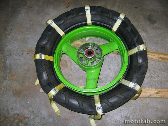 Mount a Motorcycle Tire Without Using Tools 410