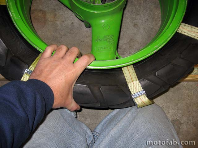Mount a Motorcycle Tire Without Using Tools 510