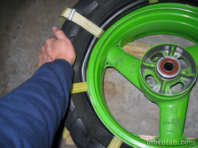Mount a Motorcycle Tire Without Using Tools 611